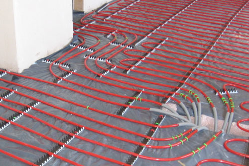 red underfloor heating
