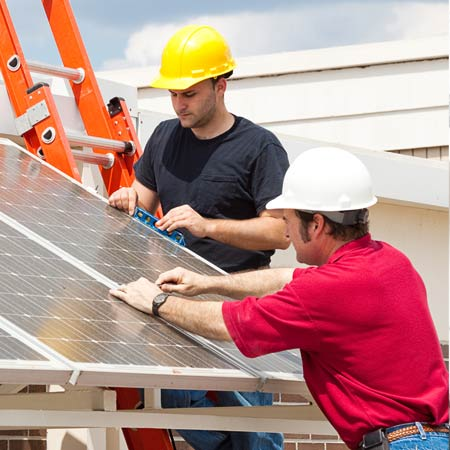 Installing solar roof panels