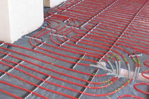red underfloor heating