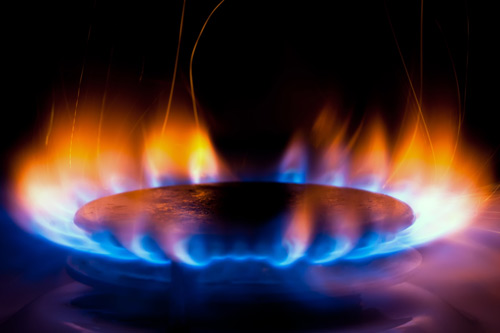 Gas Hob With Flames